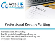 Professional Resume Writing,  CV Writing in India & Dubai